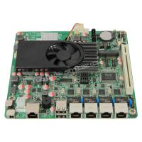 Wholesale Fanless 4 Ethernet Ports Mini ITX Atom Motherboard D2550 With 2 SATA / PCI from china suppliers