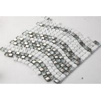 Wholesale Ice Crack Glass Metal Mosaic Bathroom Backsplash Tile Special Chip Size from china suppliers