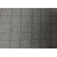 Wholesale 720G/M Charcoal Plaid Double Faced Wool Fabric For Coats , Double Weave Fabric from china suppliers