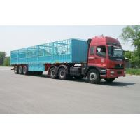 Wholesale 13m-3 Axles-45T-Rail Side Flat Bed container semi trailer from china suppliers