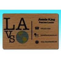 Wholesale RFID Wood/Bamboo material Card, Wood magnetic stripe Card, Wood four color printing Card from china suppliers