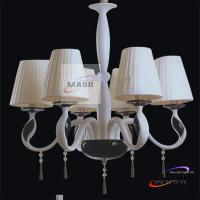 Wholesale Fabric Cover Six Lamp Source Modern Resin Indoor Chandelier MS-P3011 For Sitting room from china suppliers