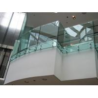 Quality Interior Stainless Steel glass balustrade fittings, laminated glass balustrade for sale