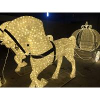 Wholesale outdoor christmas decoration led horse carriage from china suppliers