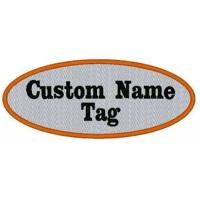 Wholesale 6″oval Custom Embroidered Name Tag Biker Patch from china suppliers