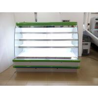 Wholesale Coated Steel Body Open Deck Chillers 8ft Long Vegetable / Meat Refrigerated Showcase from china suppliers