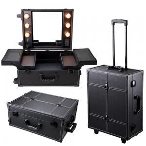 Wholesale Cosmetics Mini Studio Togo Makeup Case, Black / White from china suppliers