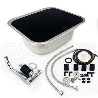 Buy cheap Practical RV Kitchen Sink Single Bowl RV Stainless Steel Sink With Toughened Glass Cover from wholesalers