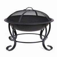 Wholesale Fire Pits with Gray Painting, Two Wheels for Easy Movement from china suppliers