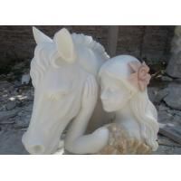 Wholesale Multi-color marble sculpture with 2 feet height, First grade white Jade marble sculpture from china suppliers