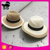 Wholesale Trim 56-58cm Women Cheap Direct Factory Panama Customized 100% Polyester Visor Summer Straw hats for sale from china suppliers