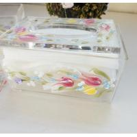 Wholesale Acrylic Tissue Box , Acrylic napkin case with beautiful silk printing from china suppliers