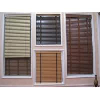 Wholesale 35mm 100% basswood venetian blinds for windows with steel headrail and wooden bottomrail from china suppliers