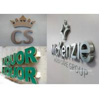 Wholesale Brushed / Polished Stainless Steel Signs Size Personalised , Free Design from china suppliers