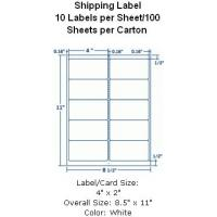 "Wholesale Removable Shipping Label 4""x2"" 10 Labels per Sheet/100 Sheets per Carton from china suppliers"