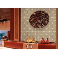 Wholesale Modern PVC 3d home Living Room Wallpaper embossed Irregular cube from china suppliers