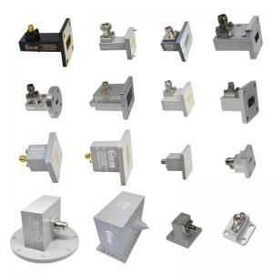 Wholesale U band 40-60GHz Right Angle Waveguide To Coaxial Adapter with WR19 (BJ500) flang to 1.85mm connector from china suppliers