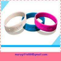 Wholesale fashion round debossed silicone rubber bangles from china suppliers