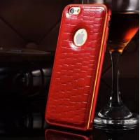 iphone 6 red bumper leather case
