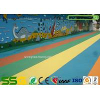 Wholesale Custom Colored EPDM Granulated Rubber Flooring Sports Court Mat Acid / Alkaline Resistance from china suppliers