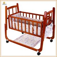 Wholesale Red Handmade Wooden Baby Cribs Convertible Baby Bedroom Furniture from china suppliers