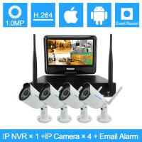 Wholesale Bullet Camera Onvif H.264 NVR Kit Wireless Surveillance Camera System from china suppliers