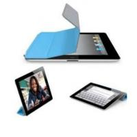 Wholesale Apple iPad 2 Cases Compatible Smart Cover with blue Microfiber customized from china suppliers