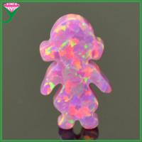 Wholesale OP22 Rose pink lab created synthetic fire little girl opal ethiopian opal price per gram from china suppliers