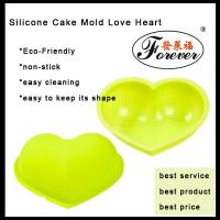 Wholesale Yellow Cake Pop Molds / Silicone Cake Mold Love Heart With Customize Color For Baking from china suppliers
