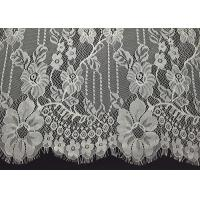 Buy cheap Ivory Elegent Floral Chantilly Eyelash Double Edged Lace Trim With Eyelash Fringe By The Yard from wholesalers