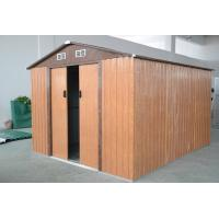 Wholesale Custom Wood Color Eco Friendly Steel Garden Sheds , Powder Coated Apex Metal Shed from china suppliers