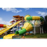 Wholesale Giant Water Park Fiberglass Water Slides Galvanized Carbon Steel Supporting from china suppliers