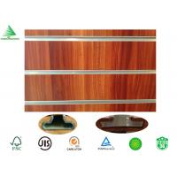 Wholesale 15mm/18mm wood grain melamine mdf slotted wall hanging board from china suppliers
