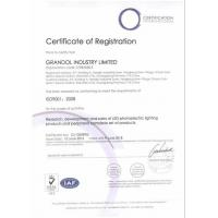GRANDOL INDUSTRY LIMITED Certifications
