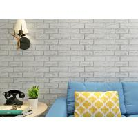 Wholesale Greyish White Color Brick Printing Self Adhesive Wallpaper Modern Style For Living Room from china suppliers