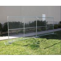 Quality Temporary Chain Link Fence panels 6ft x 10ft mesh opening 60mm x 60mm x 2.7mm OD 32 round tubes for sale