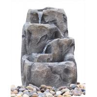 Quality Modern Alpine Rock Waterfall Fountain With Fiberglass / Resin Material for sale