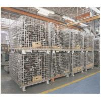 "Wholesale Heavy Weight Foldable Collapsible Wire Containers W47"" X D39"" X H35"" In Zinc plate Finishes from china suppliers"