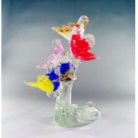 Wholesale Handblown glass sculptures,glass birds ,DJ-8019 from china suppliers