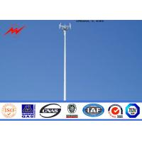 Wholesale Steel 95 ft Mono Pole Tower Mobile Cell Phone Tower Tapered Flanged Steel Poles from china suppliers