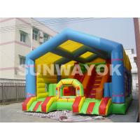 Wholesale Giant Colourful  Inflatable Obstacle Course For Adults , safety Slide Bouncy House from china suppliers