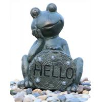 Wholesale Garden Statue Fountains Vivid Frog Statue Green Frog Magnesia Water Fountain from china suppliers