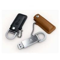 Customized header pouch usb flash disk,metal usb in leather cover with gifts packing box (MY-UL10)