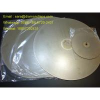 "Wholesale 8"" Coated Diamond Flat Lap Disc with Grit 320 1mm thickness for glass working from china suppliers"