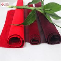 Wholesale Pouch / Jewelry Lining Red Cotton Velvet Fabric , Soft Flocked Upholstery Fabric from china suppliers
