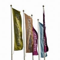 Buy cheap Flag Banners, Made of Knitted or Spun Polyester, Suitable for Advertisement from wholesalers