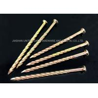 Wholesale Zinc Plated Diamond Point Twisted Shank Nails Length 13.00mm - 160mm from china suppliers