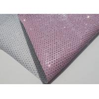 Wholesale Chunky Metallic Sequined Perforated Leather Fabric Wallpaper Home Decoration Curtain from china suppliers