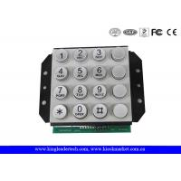 Wholesale 16 Keys PIN interface Zink Alloy Industrial Numeric Keypad For Door Access Control or Phone System from china suppliers
