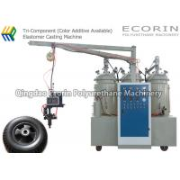 Quality 15KW High Efficient Intelligent Three Components Automatic Polyurethane Foam Machine For solid  PU wheel and tire for sale